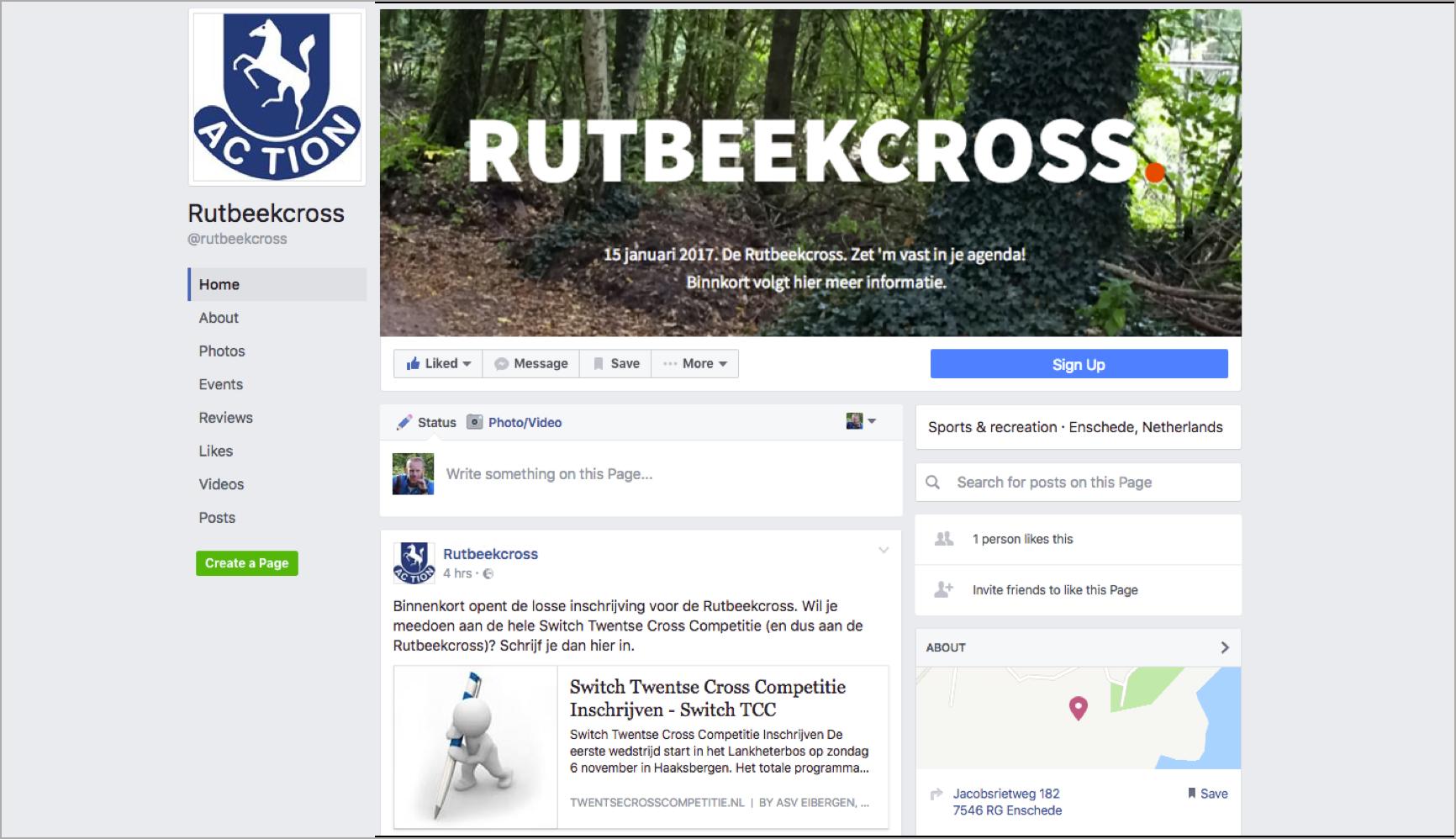 Rutbeekcross op Facebook